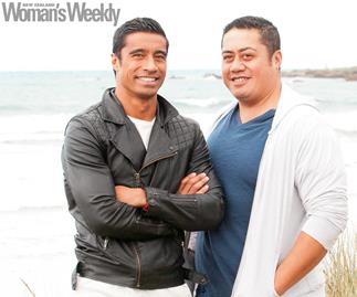 Shortland Street actor Pua Magasiva and his twin brother Tanu.