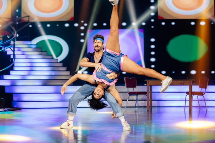 Laura and Shae perform a top-scoring jive.
