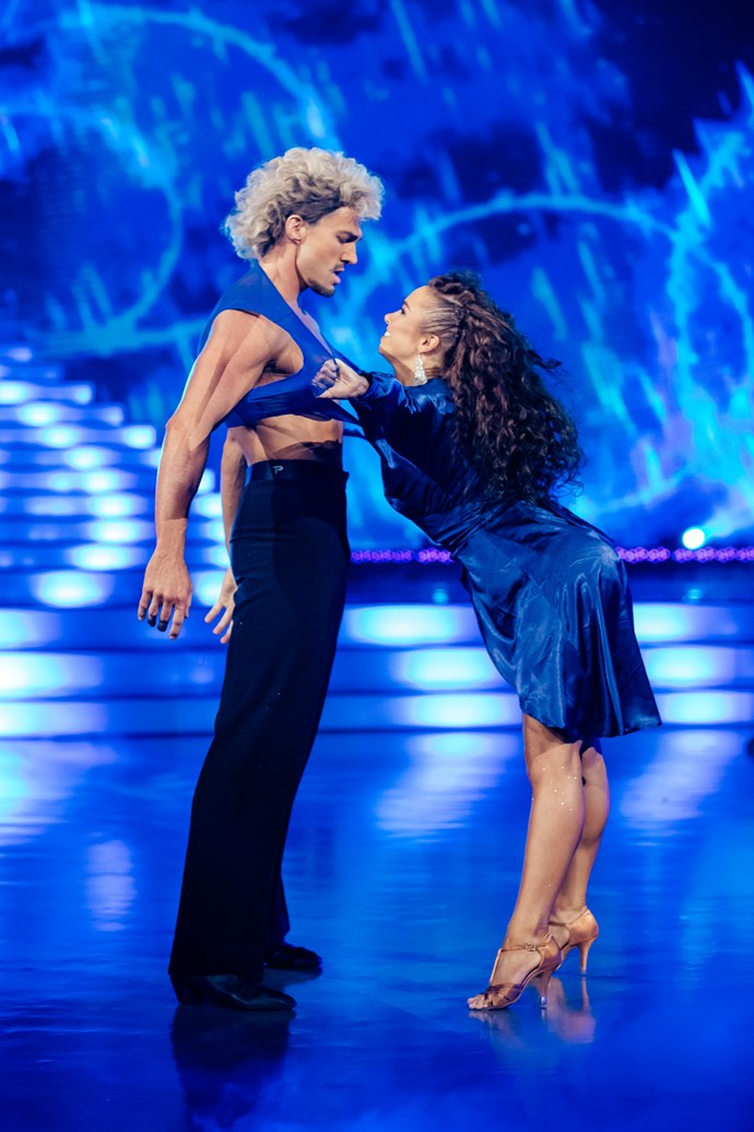 Randell gets his shirt off again in week five of DWTS.
