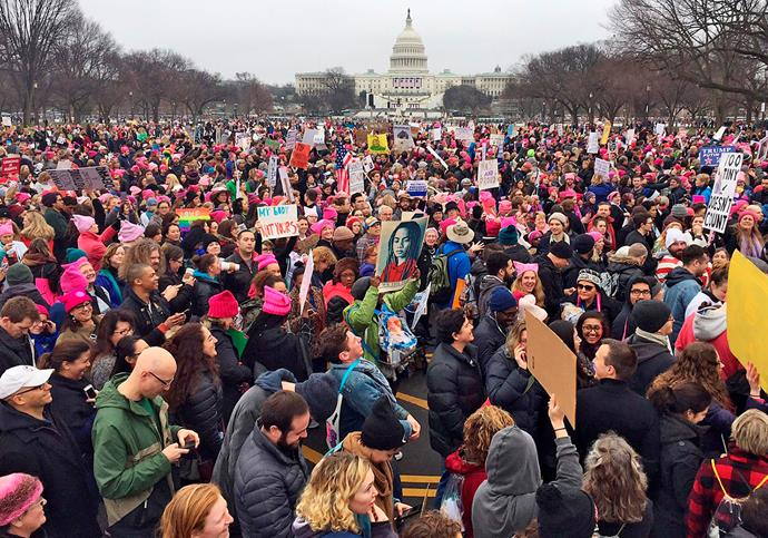 The Women's March on the National Mall in Washington in 2017. *Image:Getty*