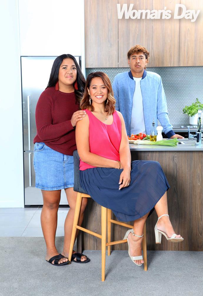 The foodie's kitchen hands Ria-Maieke (left) and Whakaruru.