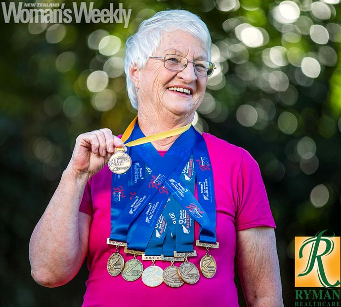 Active Barbara has picked up back-to-back triple gold medals in a sport she only started recently − indoor rowing.