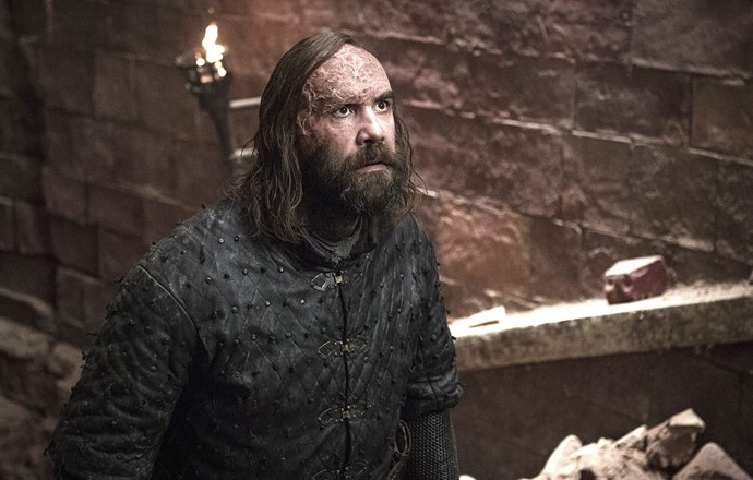 The Hound on the way to meet his maker.