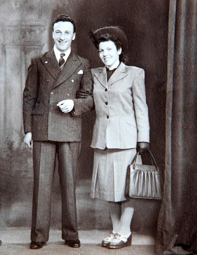 Bruce and Josefine, Anemarie's parents, on their wedding day on December 27, 1947.