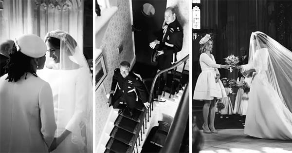 The video features behind-the-scenes photographs from their breathtaking wedding day, one year ago. *(Image: Instagram/@SussexRoyal)*