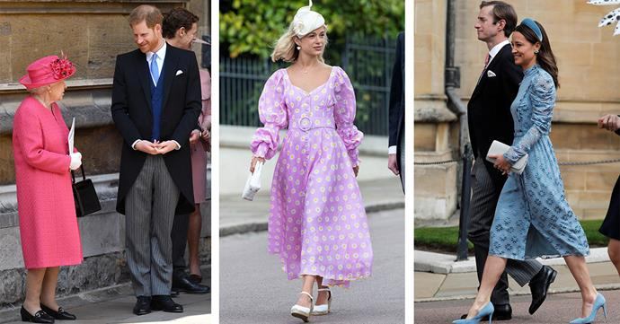 The list of notable guests was a long one including The Queen and Prince Harry, Lady Amelia Windsor and Pippa Middleton and James Mathews. *(Images: Getty)*