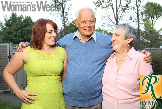 Charles and wife Helen (far right) are proud of daughter Liz and their grandkids.