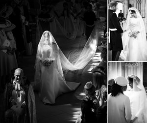 Duchess Meghan and Prince Harry have revealed beautiful never-before-seen photos from their wedding day