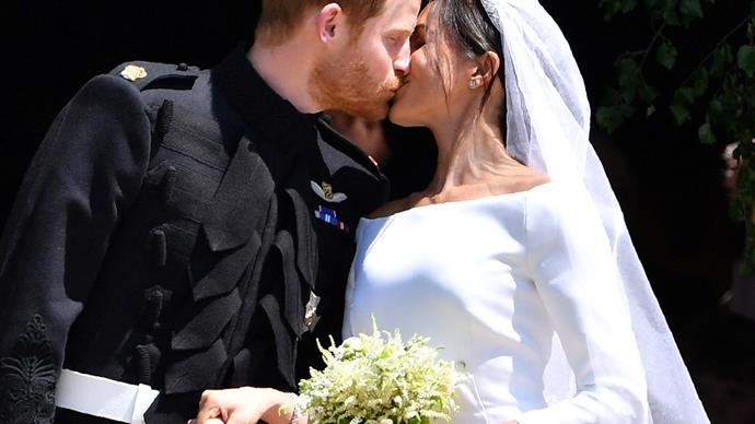 Prince Harry Meghan Markle wedding kiss