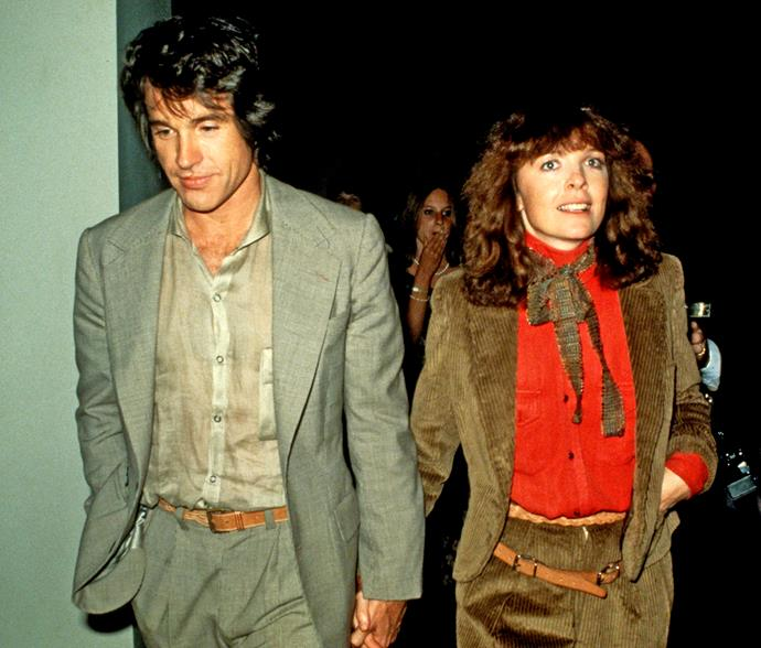 Diane with former lover Warren Beatty in 1978.