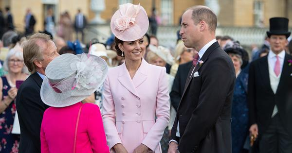 227e49d2cb Duchess Catherine looks pretty in pink at the latest Buckingham Palace Garden  Party
