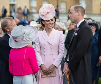 kate middleton and prince william garden party buckingham palace