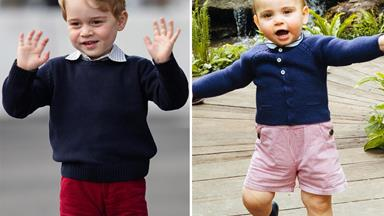 All the times Prince Louis looked just like his big brother Prince George