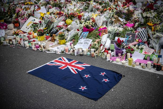 Tributes left by the Botanic Gardens in Christchurch showed New Zealanders' support for the Muslim community.