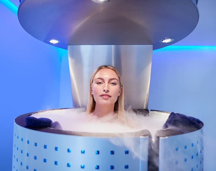 Whole body cryotherapy involves entering a chamber chilled to -140°C with liquid nitrogen vapour. *(Image: Getty)*