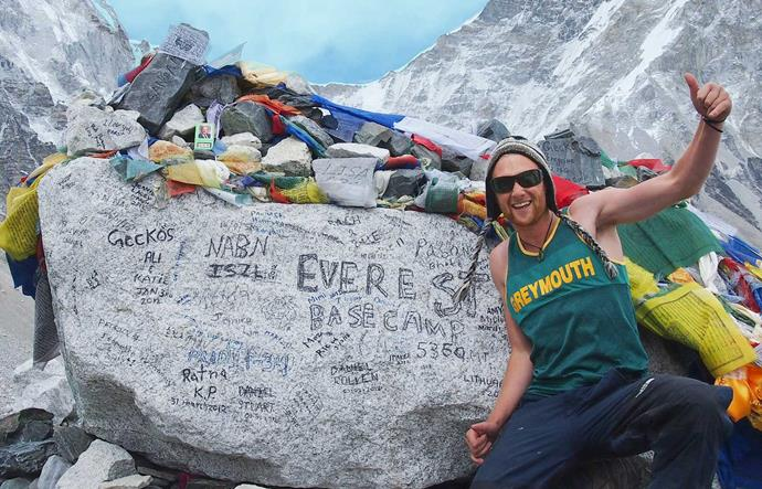 After his first cancer battle, the athlete travelled to Everest Base Camp.