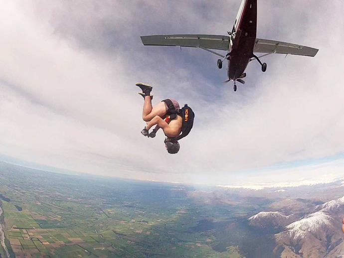"""Josh's skydiving course was """"one of the happiest times of my life""""."""
