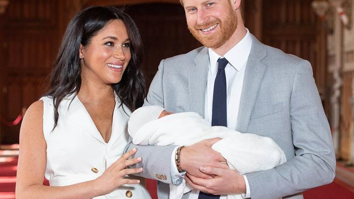 meghan markle prince harry and archie harrison