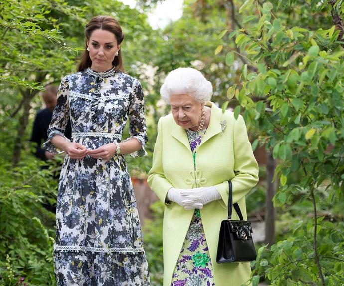 Catherine, Duchess of Cambridge, and the Queen