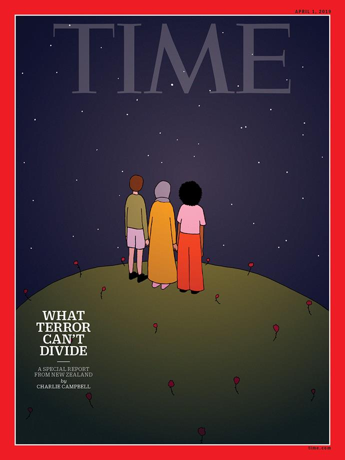 Ruby was commissioned by *TIME* magazine to illustrate their April cover.