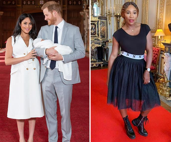 serena williams meghan markle prince harry baby archie