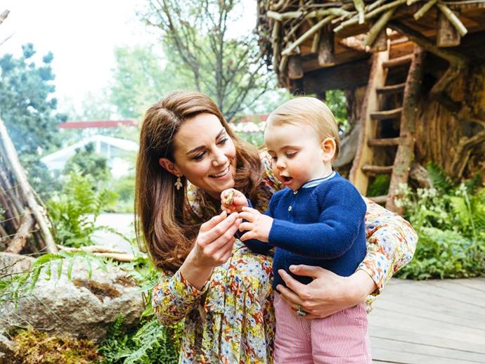 Photos released of the Cambridge family at the Chelsea Garden Show, gave us the first peek at Prince Louis walking. *(Image: Matt Porteous / @KensingtonRoyal)*