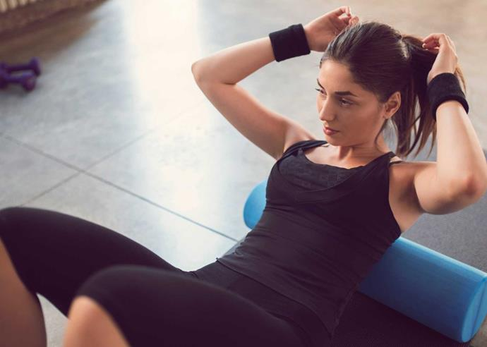 A smooth foam roller is a great choice for beginners.