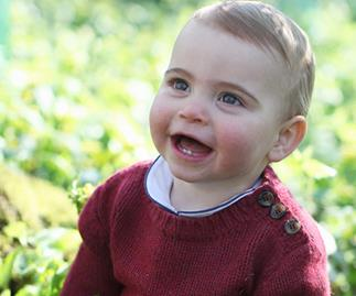 Prince Louis first birthday portrait