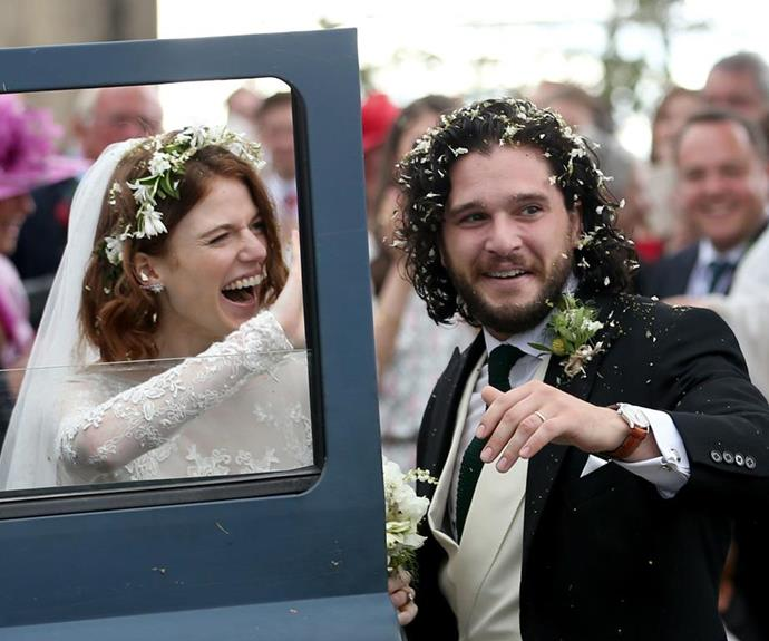 Kit and Rose married in June last year. The wedding was attended by many of their Game of Thrones cast members. *Photo: Getty*