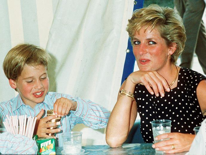 William says the loss of his mum Diana (here in 1991) was a pain like no other.