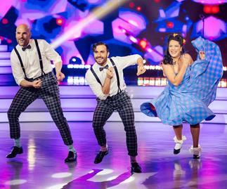 Laura Daniel Ben Barrington Shae Mountain Dancing With The Stars trio dance