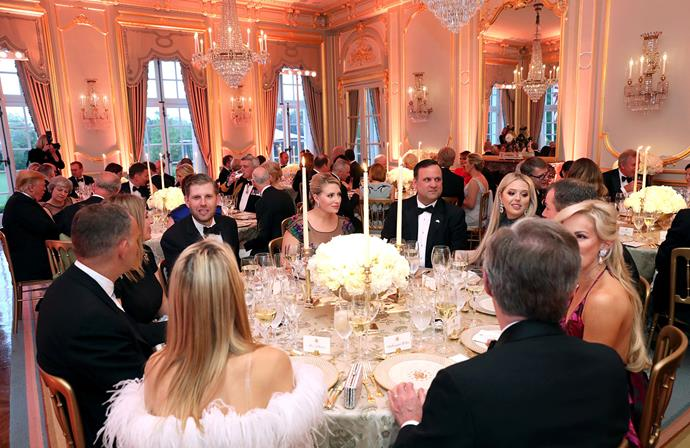 Tuesday's dinner at Winfield House was a much more intimate affair than Monday's state banquet at Buckingham Palace. *(Image: Getty)*
