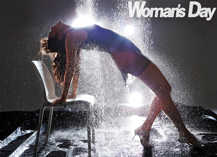 """What a Feeling""! Trouper Nadia happily recreated this classic scene from Flashdance."