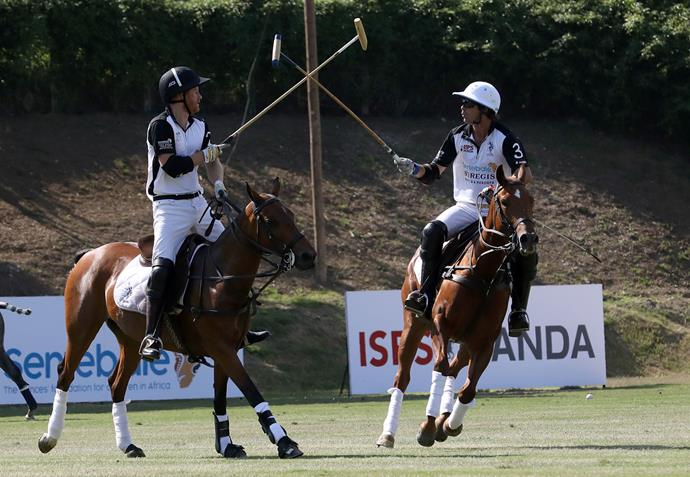 Prince Harry and polo star Nacho Figueras in Rome. *(Image: Getty)*