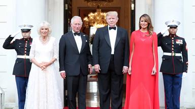 What did President Trump choose to serve his guests at his reciprocal banquet?