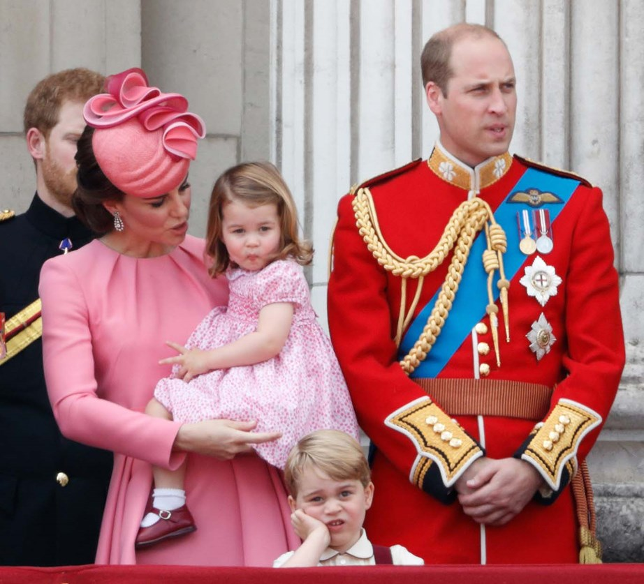 Bored George at the Trooping of the Colours, 2017. *(Image: Getty)*