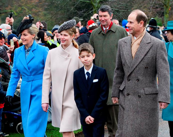 The Wessex family attend church on Christmas Day.