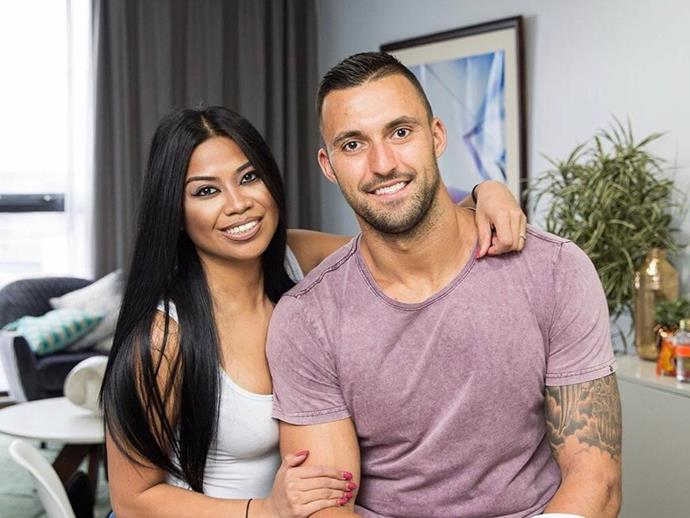 Cyrell with her husband on MAFS, Nic Jovanovic