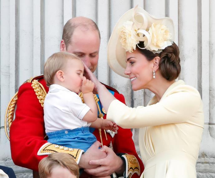 Prince Louis's debut also reveals he sucks his thumb! How cute! *(Image: Getty)*