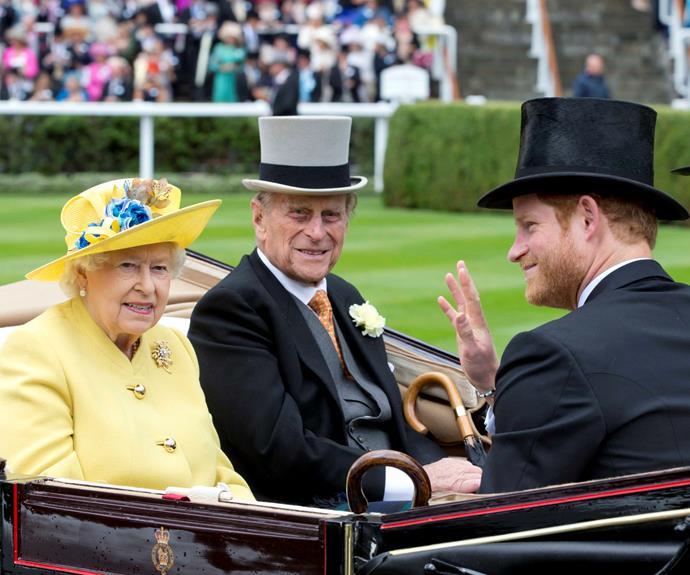 queen elizabeth prince philip prince harry