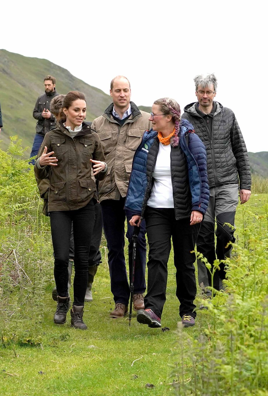 William and Kate take take a walk around a farm in Patterdale. *(Image: Getty)*