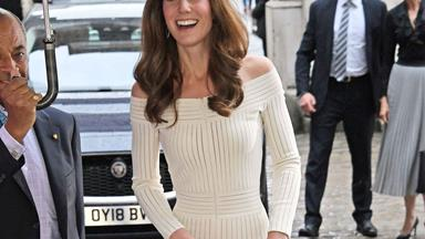 Duchess Catherine steps out in a breathtaking off-the-shoulder gown for a gala dinner
