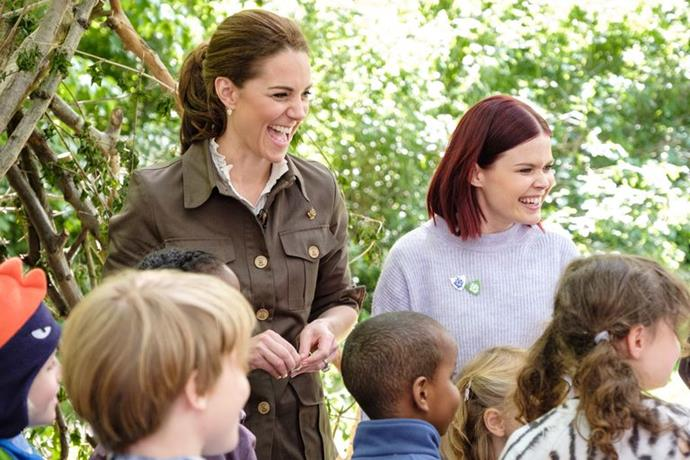 Duchess Catherine looked in her element on children's TV show *Blue Peter*. *(Image: BBC)*