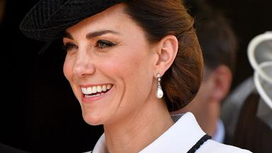 Duchess Catherine looks effortlessly chic as she channels Princess Diana at the Order of the Garter ceremony