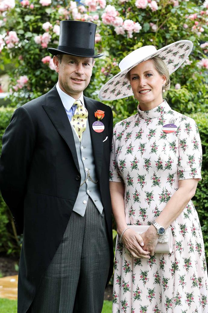 Countess Sophie wore Kiwi designer and royal favourite Emila Wickstead, while Prince Edward added a pop of colour with his bright yellow tie! *(Image: Chris Jackson / Getty)*