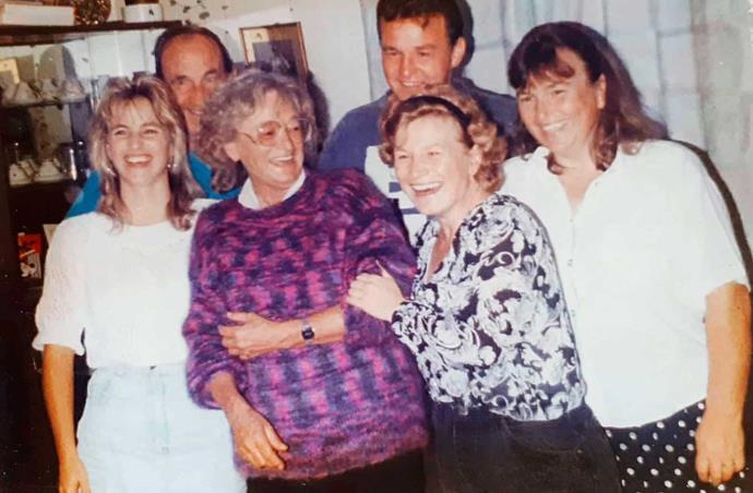 Arthur's family in 1992 (from left) Jo, dad Arthur, mum Shirley, John, Shirley and Diane.