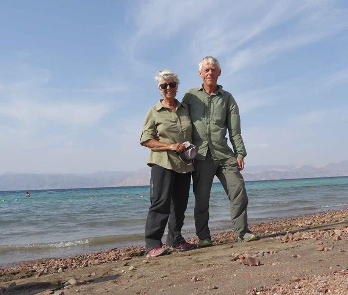 Wendy and Ian walked 700km journey across Jordan to reach the Red Sea.