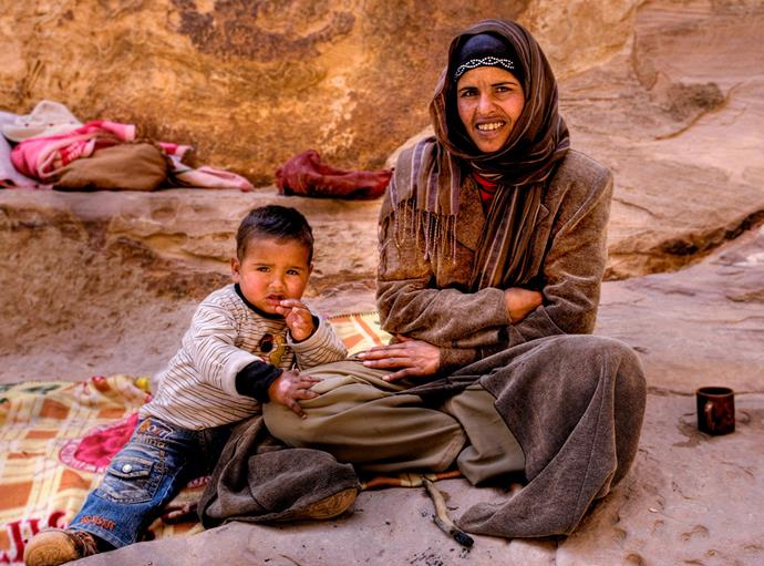 A Bedouin mother and son – the locals always had a warm greeting and the offer of tea.