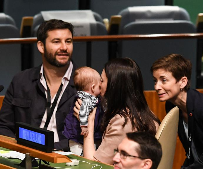 Neve was the first baby to attend the UN General Assembly.