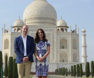 prince william and kate middleton at the taj mahal